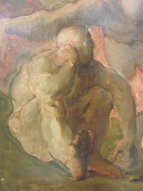 Painting, 3 nude figures,  G. Hunter Jones - 3