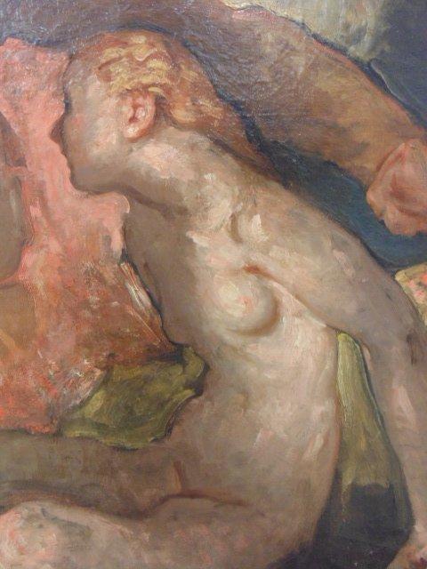 Painting, 3 nude figures,  G. Hunter Jones - 4