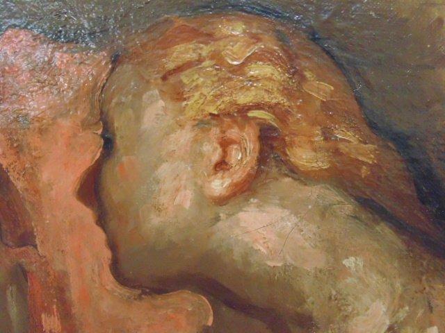 Painting, 3 nude figures,  G. Hunter Jones - 5