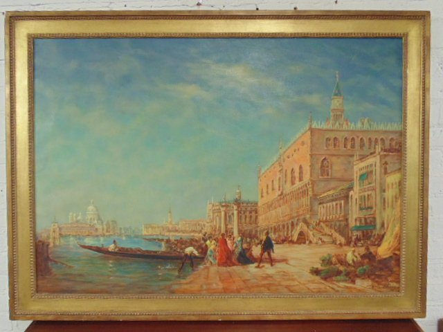 Painting, Venice scene, William Columbus Ehrig