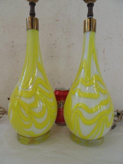 Pair art glass Murano lamps, Salviati & Co - 2