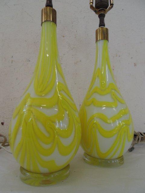 Pair art glass Murano lamps, Salviati & Co - 3