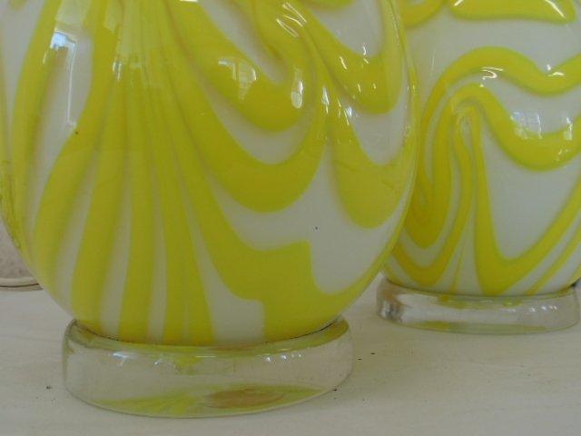 Pair art glass Murano lamps, Salviati & Co - 4