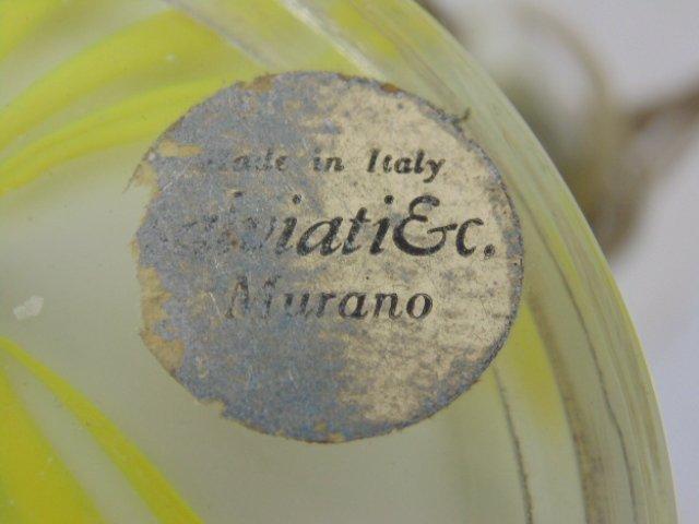 Pair art glass Murano lamps, Salviati & Co - 6