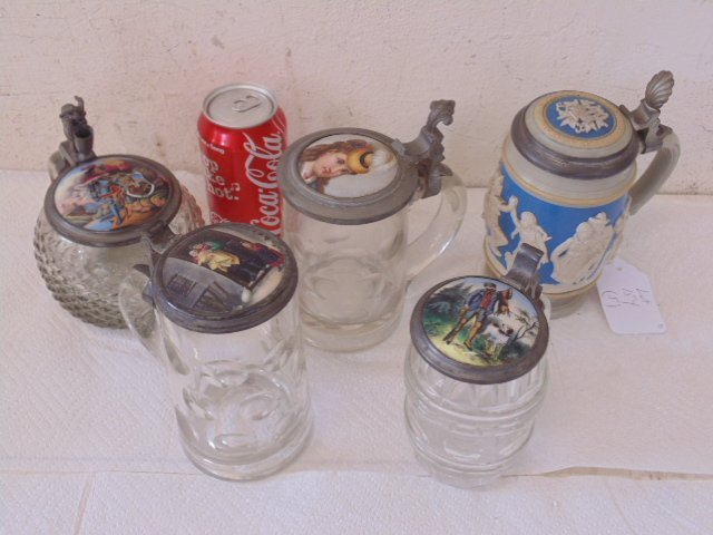 lot of 5 German steins