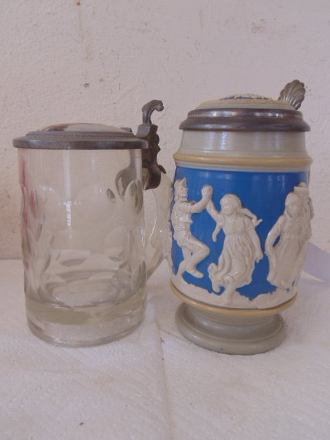 lot of 5 German steins - 2