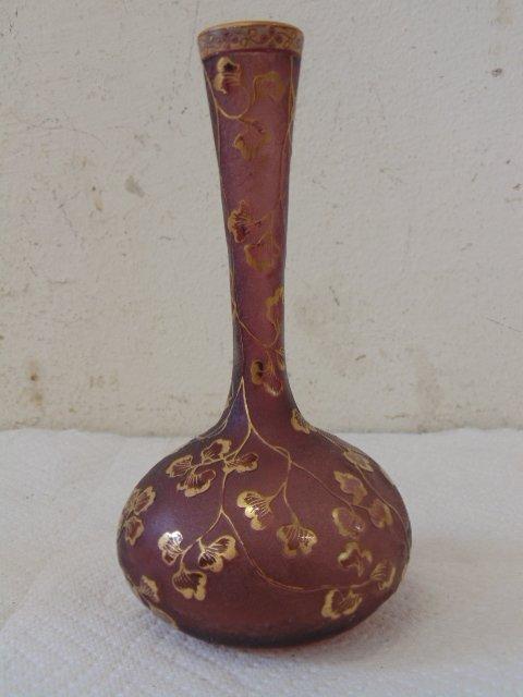 2 artglass vases by Daum Nancy - 2
