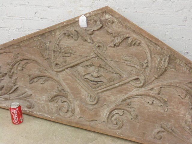 Carved wood architectural element