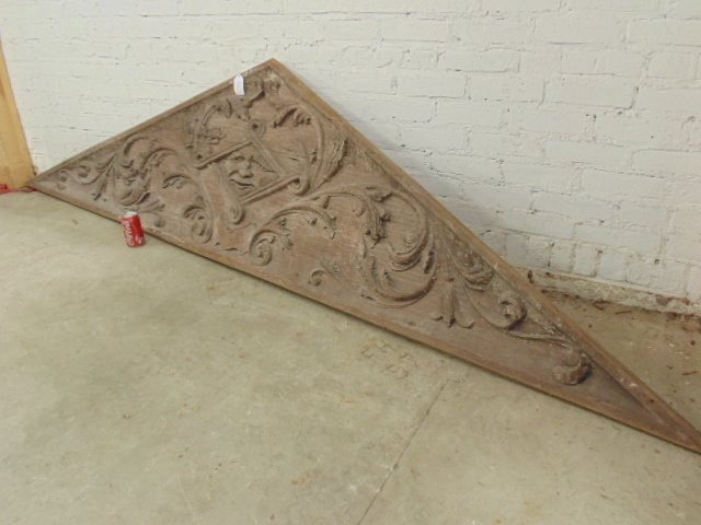Carved wood architectural element - 2