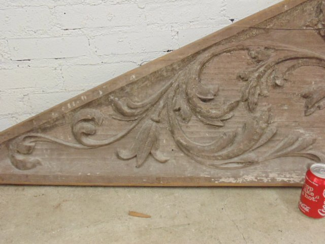 Carved wood architectural element - 3