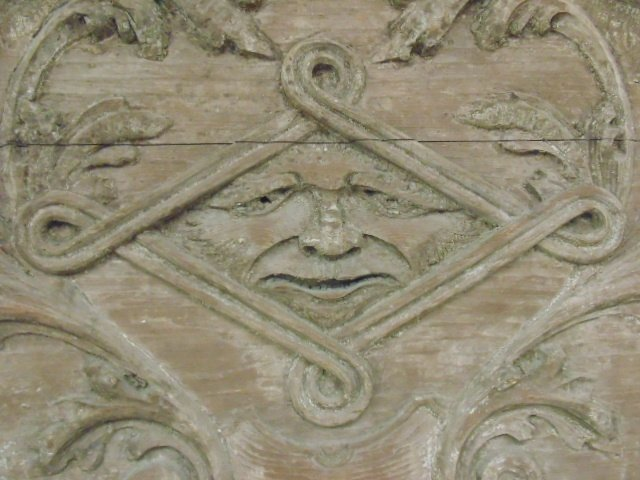Carved wood architectural element - 4