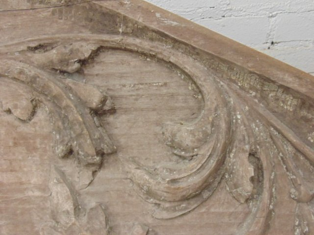 Carved wood architectural element - 5