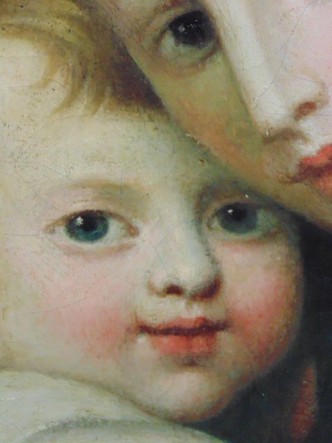 Painting, mother & child, old master - 5