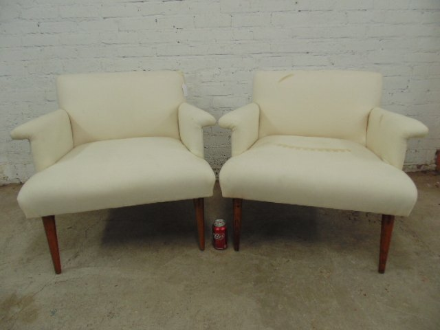 Pair upholstered chairs by Jens Rissom