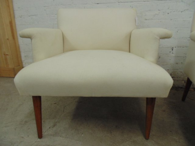 Pair upholstered chairs by Jens Rissom - 2