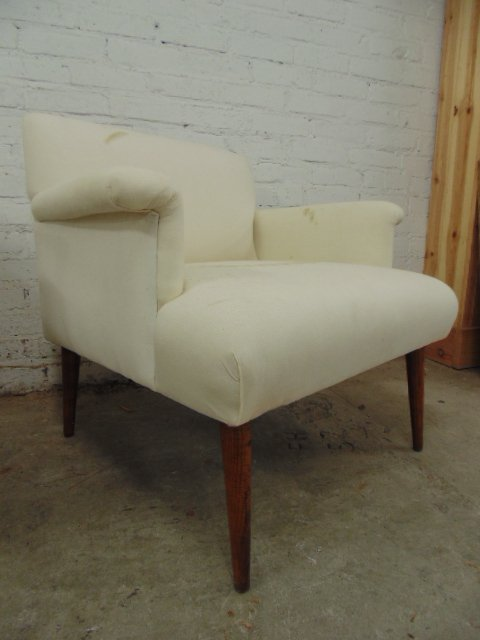 Pair upholstered chairs by Jens Rissom - 3