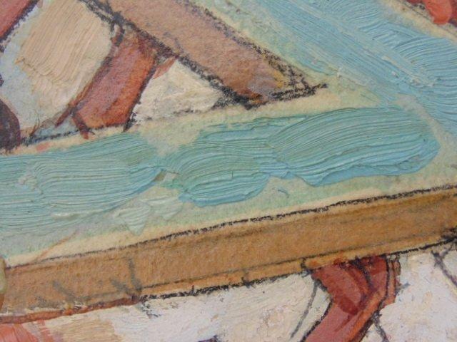 Hand colored print, mission scene, Dean Cornwell - 4