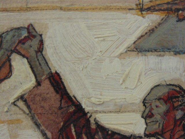 Hand colored print, mission scene, Dean Cornwell - 5