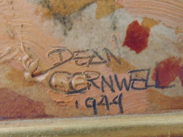 Hand colored print, mission scene, Dean Cornwell - 6