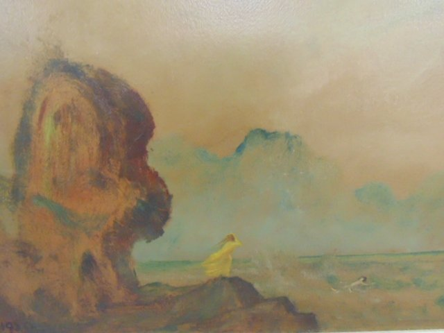 Painting, shore with figure, Louis Eilshemius - 2
