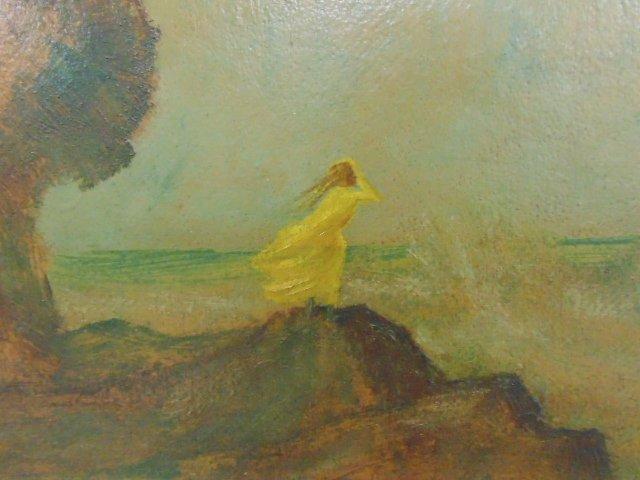Painting, shore with figure, Louis Eilshemius - 3