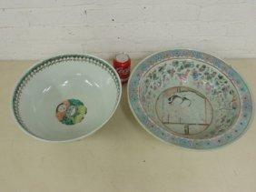 2 Chinese porcelain bowls, signed