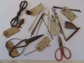 Lot early Chinese medical instruments museum collection