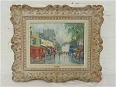 Painting Place du Tertre Jean Salabet 1952
