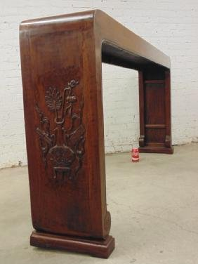 Large carved Chinese altar table