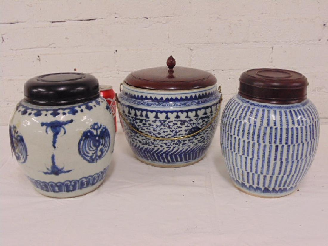 Lot 3 Asian Chinese ginger jars
