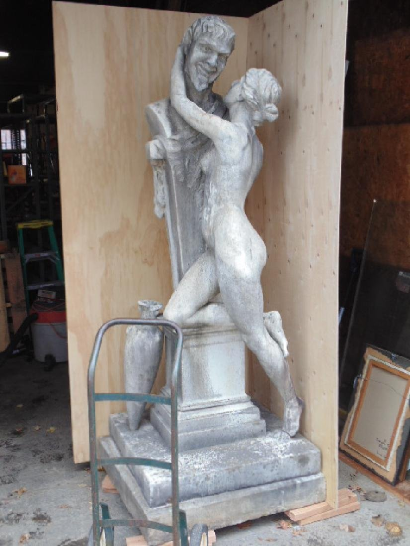 Marble statue, Aphrodite & Bacchus, Oscar Lenz