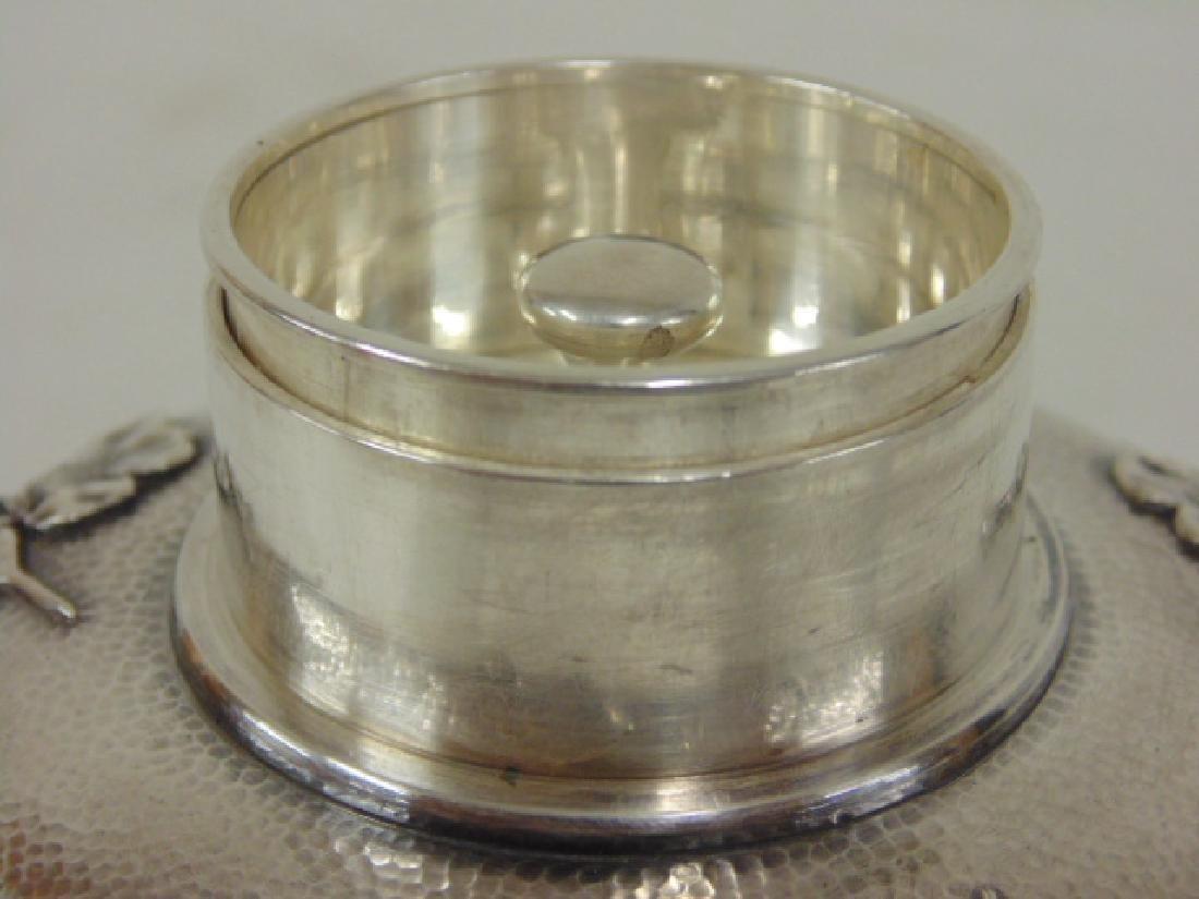 Japanese silver jar, bottle - 5