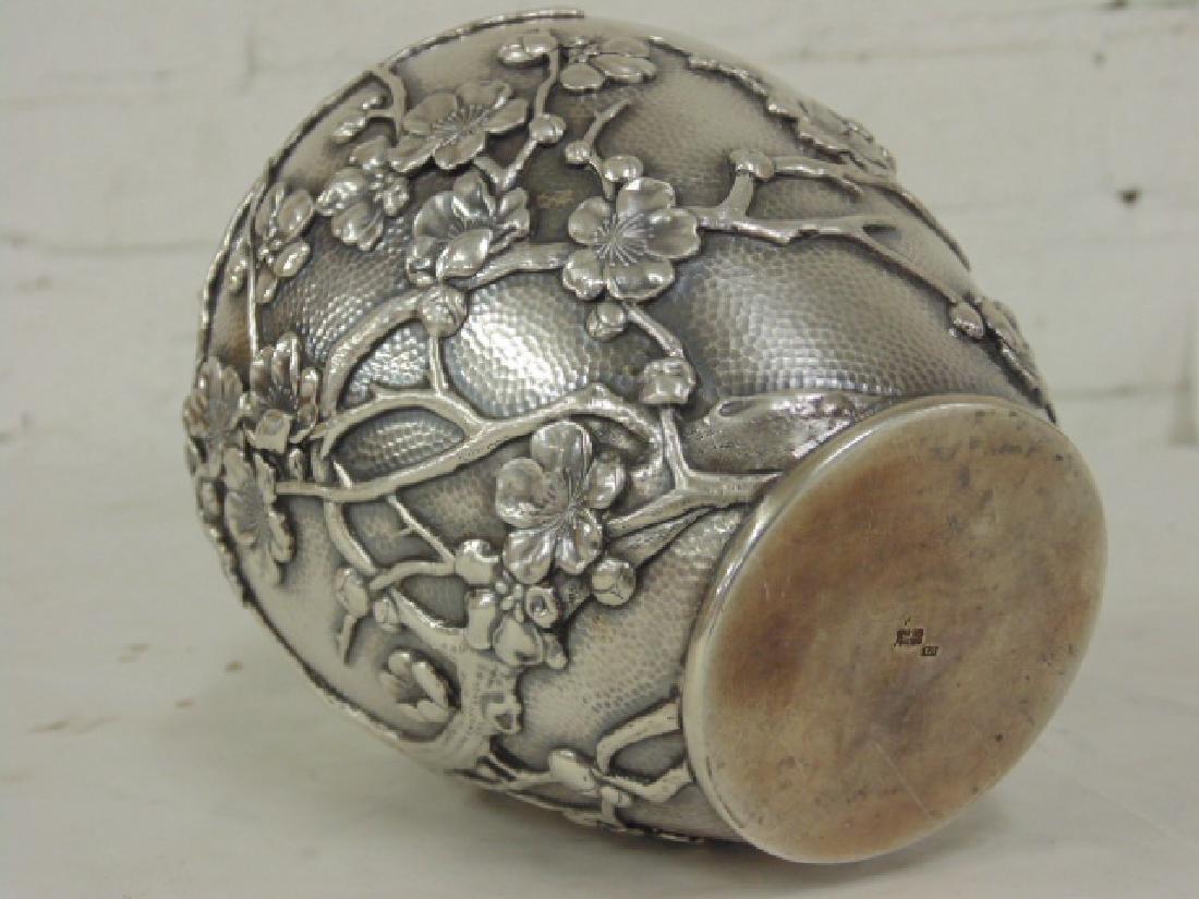 Japanese silver jar, bottle - 7