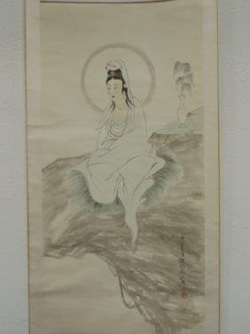 Chinese scroll, portrait lady