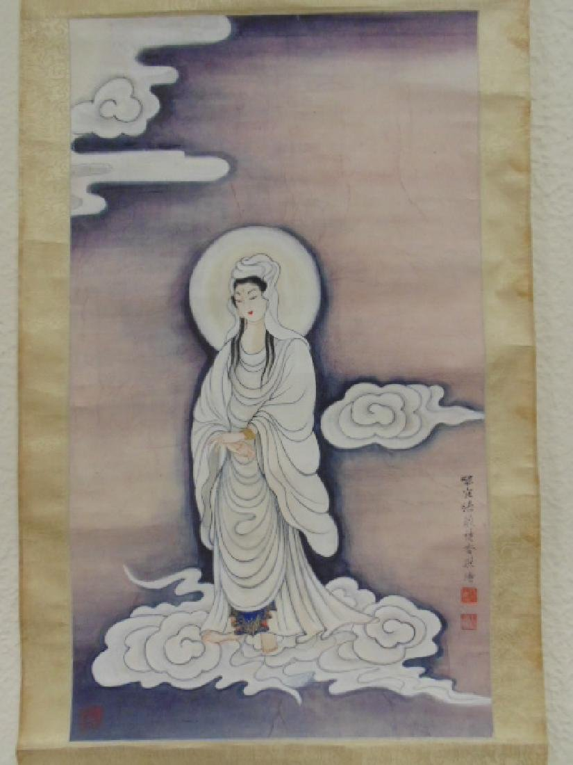 Chinese scroll, figure of a lady