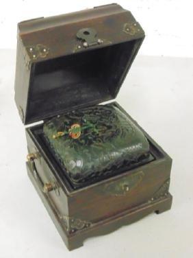 Chinese Asian Jade seal in box