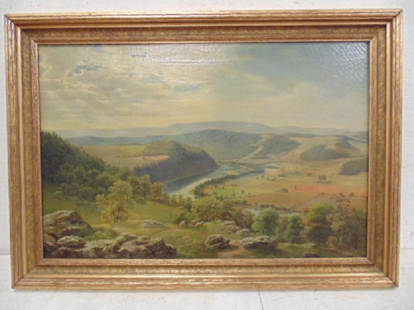 Painting,  Buck County Pennsylvania, Julius O.
