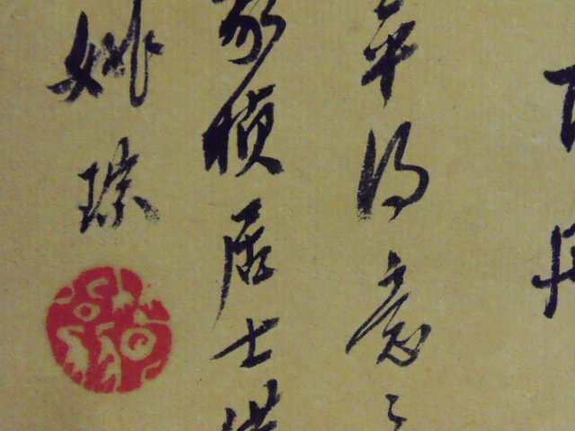 Chinese scroll with calligraphy - 9