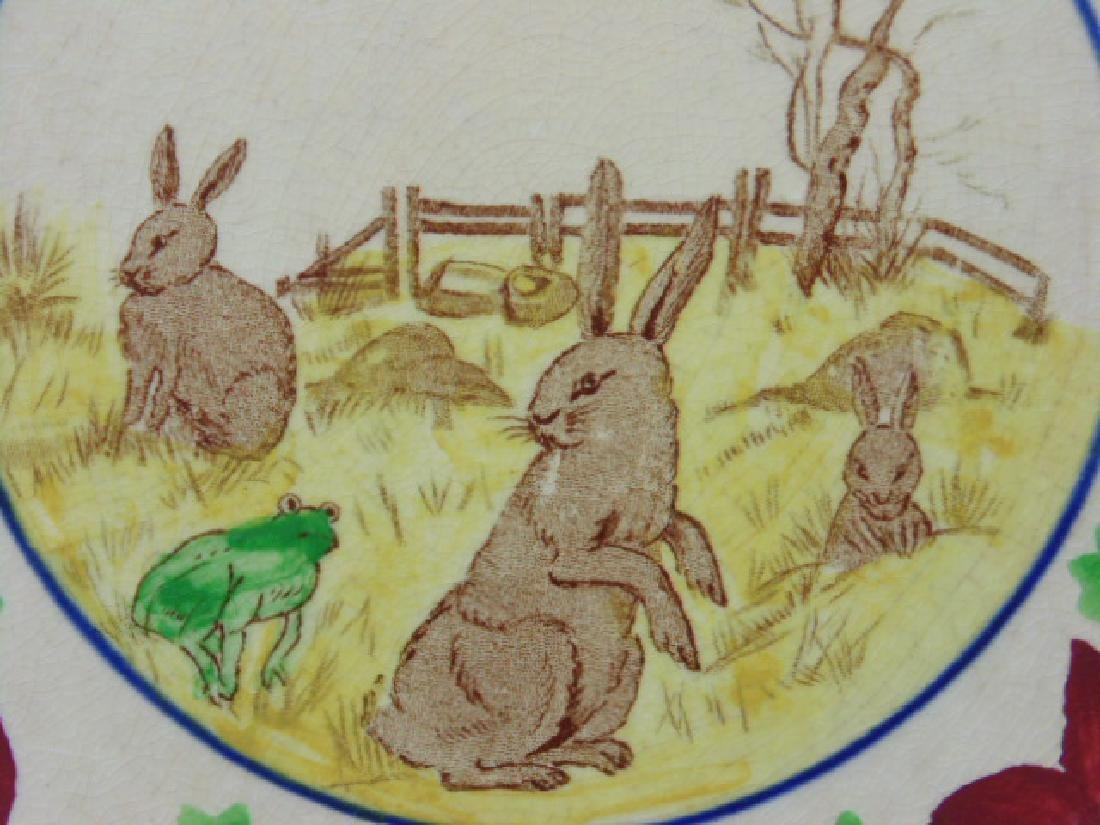 Stick Spatter rabbit plate, rabbits & frog - 3