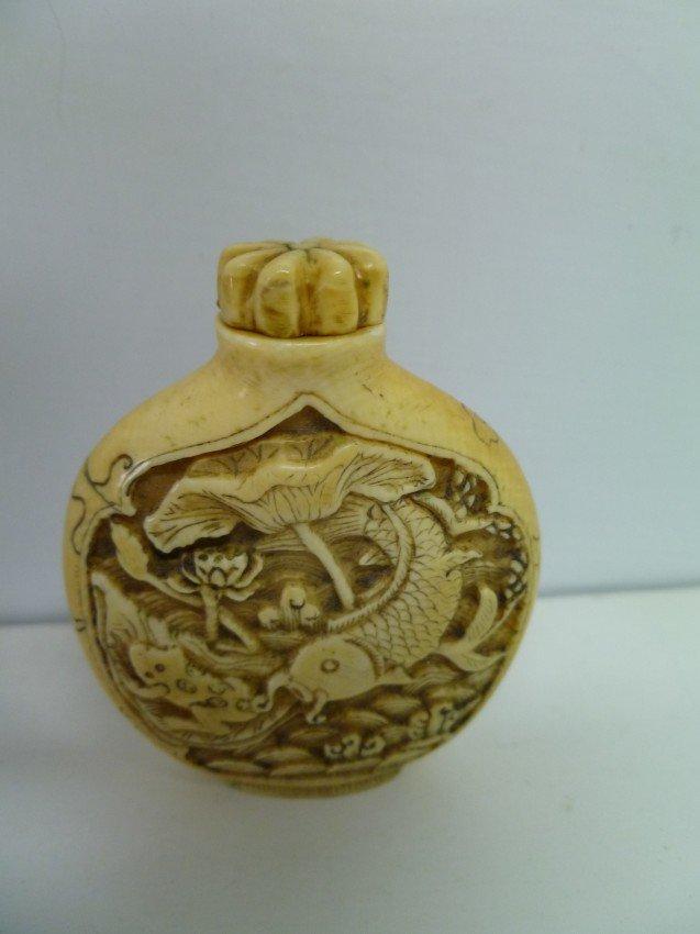 036: IVORY Japanese SNUFF Bottle