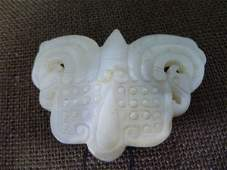 076: Butterfly or Moth Jade Amulet