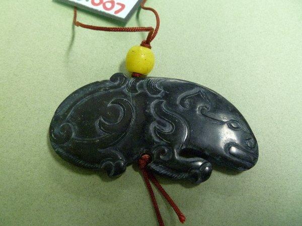 007: HONEY BEAR Black JADE Amulet