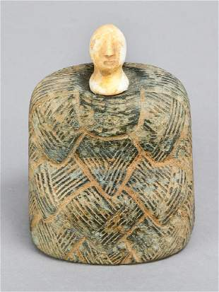 Bactrian stone female figurine