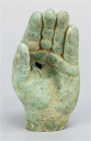 A Roman bronze left hand