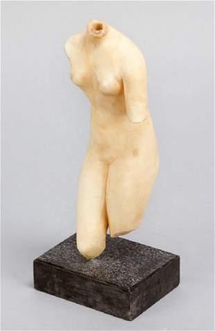 Female alabaster torso