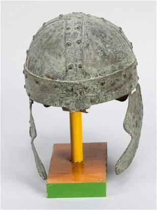 Bronze helmet in ancient manner