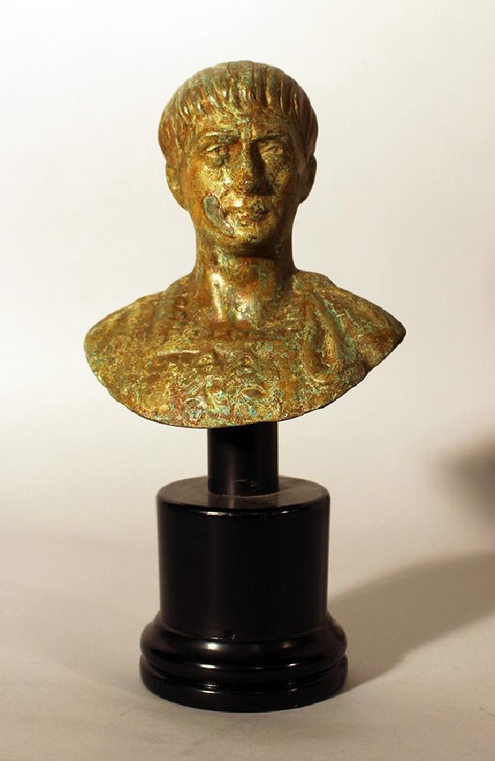 Bronze bust of Roman emperor Augustus