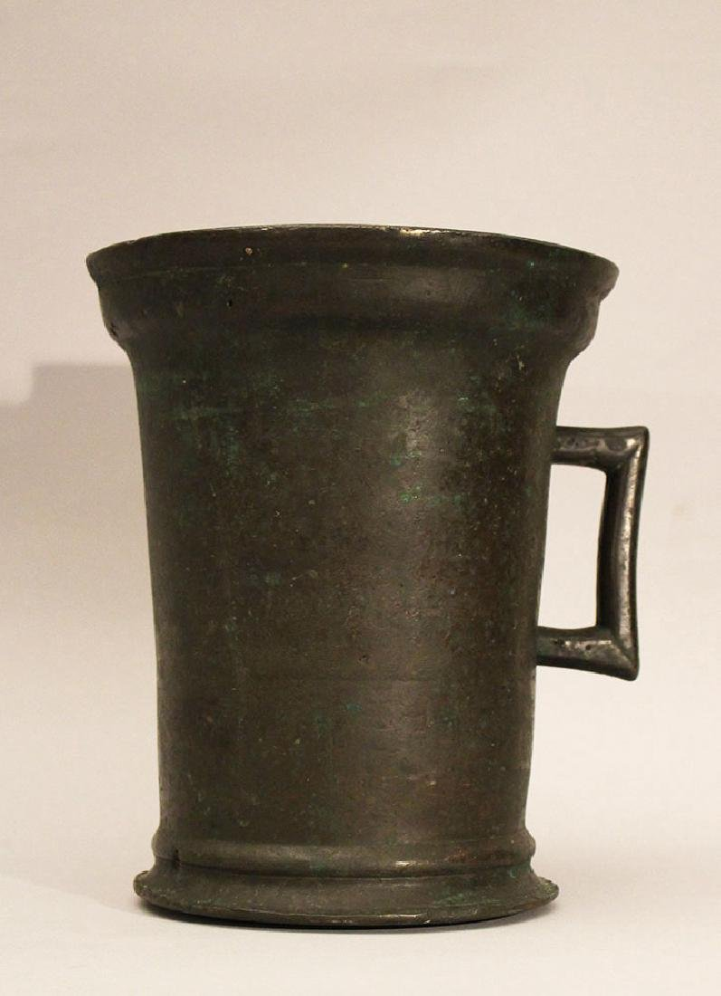 Gothic bronze mortar