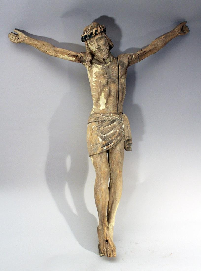 Wood carved Corpus Christ