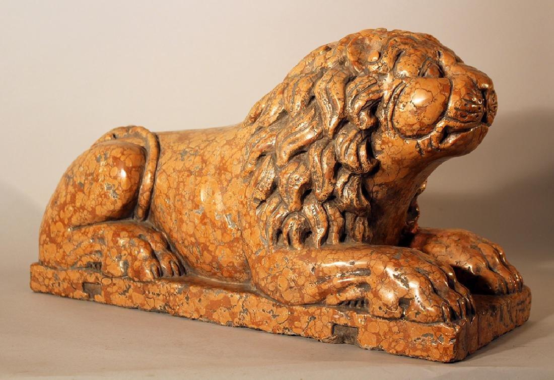 Italian rosso verona stone lion